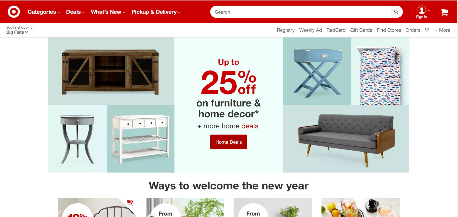 Official Web Page Snapshot of Target